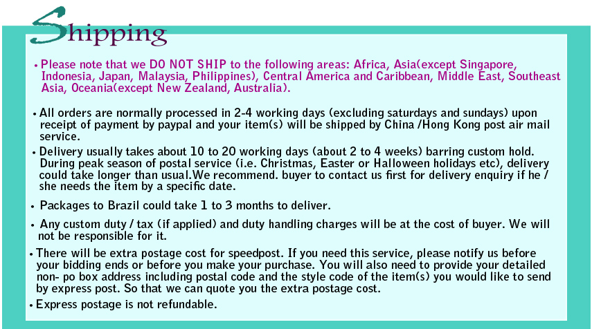Wig Fashion Shipping Policy