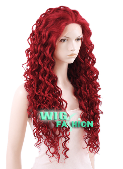 Long Curly Dark Red Wig Costume And Wigs