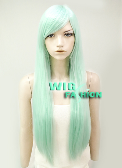 QQXCAIW Long Glueless Wavy Synthetic Lace Front Wig For ... |Mint Hair Wig