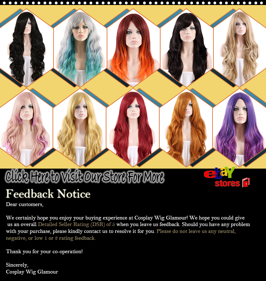 Cosplay Wig Glamour Hot Selling Style Show case